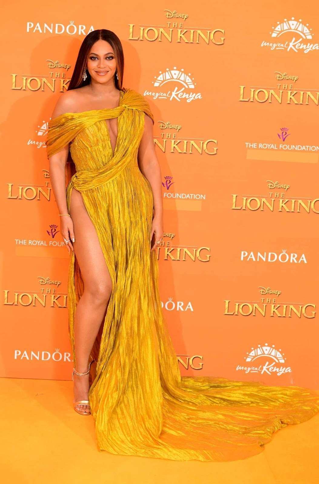 "Beyonce at the European Premiere of ""The Lion King"" in London"