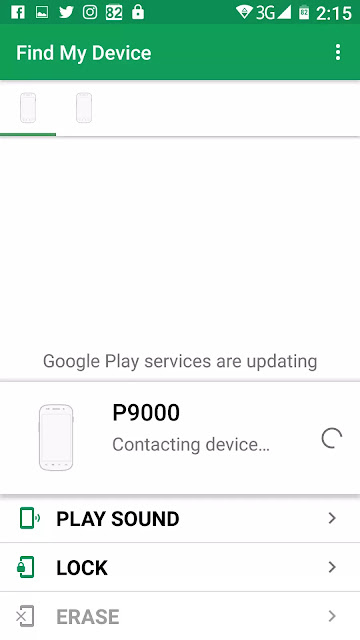 Google Play Protect Elephone P9000 Contacting Device