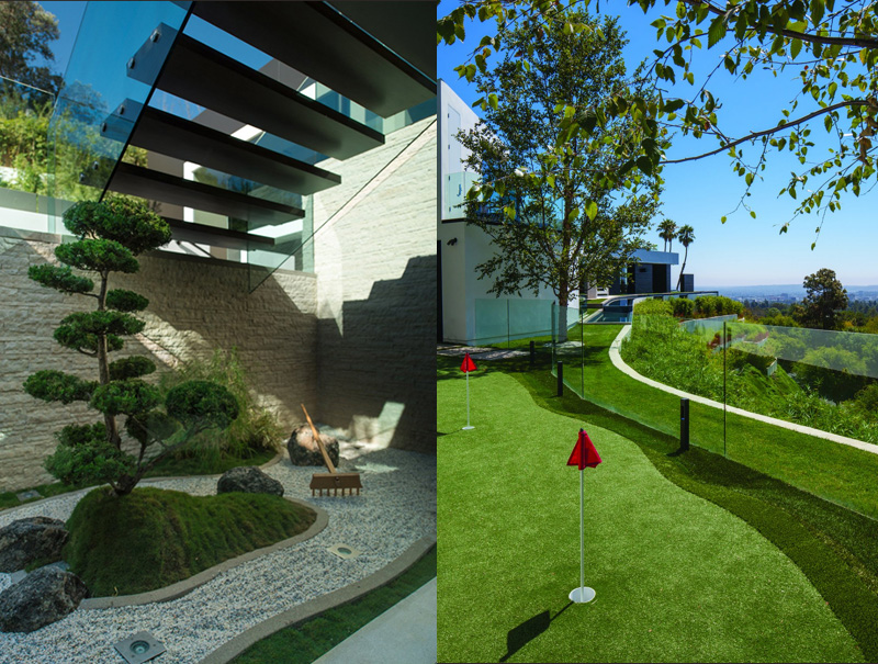 PART ONE Modern Mansion With Wrap Around Pool And Glass Walled Garage For 36 Million Pics
