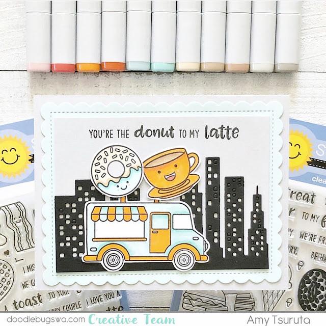Sunny Studio Stamps: Cruisin Cuisine Breakfast Puns Customer Card by Amy Tsuruta