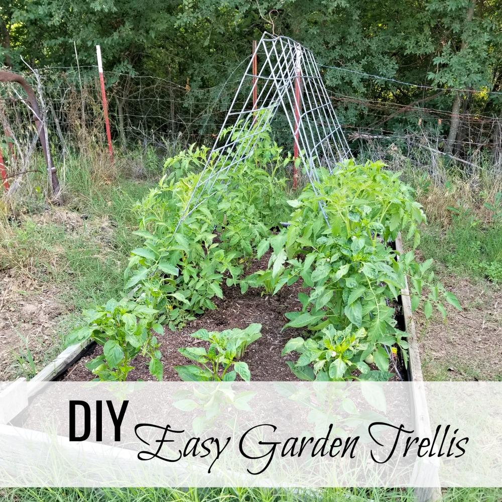 An Easy Garden Trellis