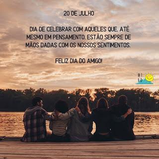 Bom dia - Dia internacional do Amigo