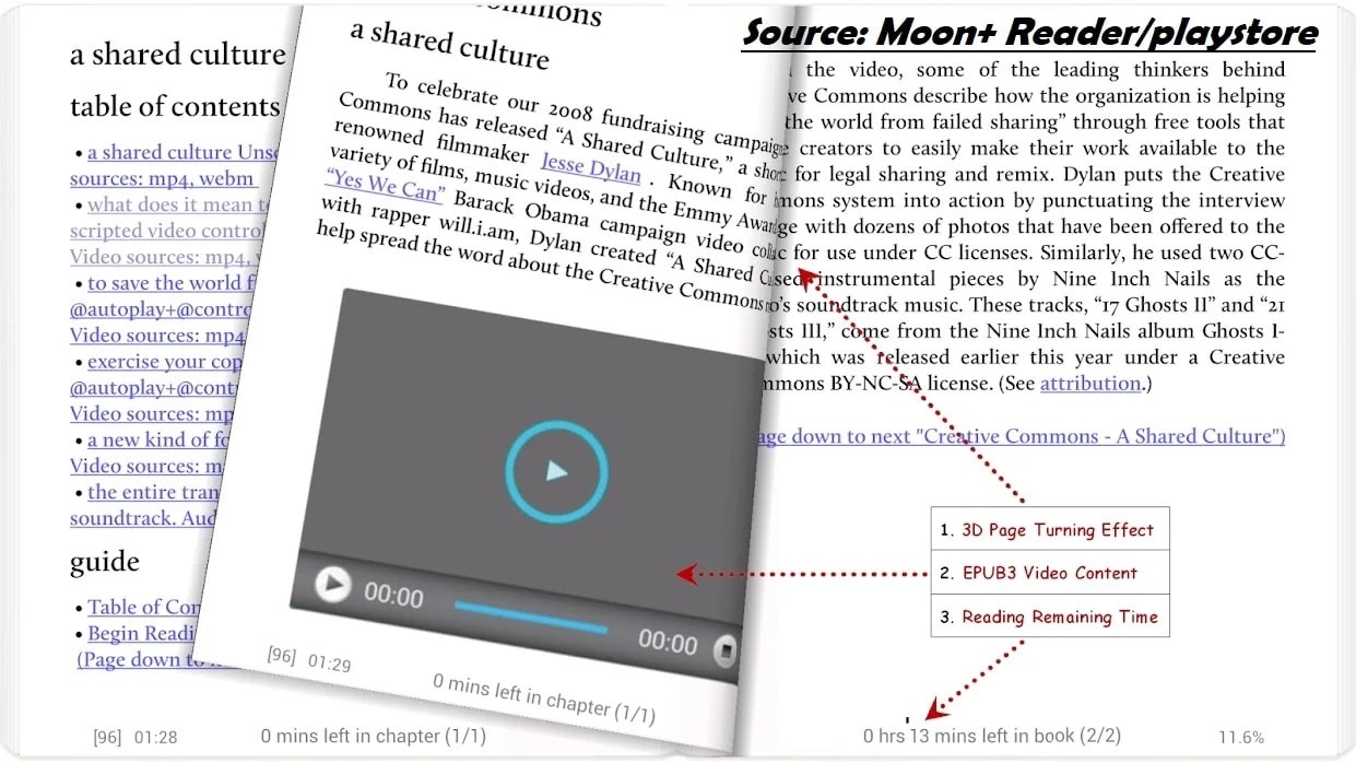 Moon plus ebook reader app for android