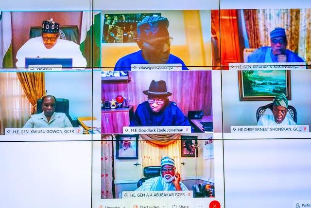 Yanzu-yanzu: Shugaba Buhari ya shiga taron gaggawa da tsaffin shugabannin Najeriya