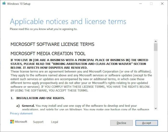 قم بتثبيت Windows 10 2021 الخطوة 2