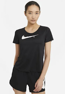 Дамска Тениска за бягане Swoosh с Dri-FIT - Nike