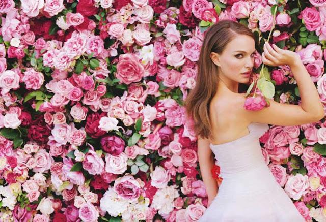 Parede de Flores Miss Dior
