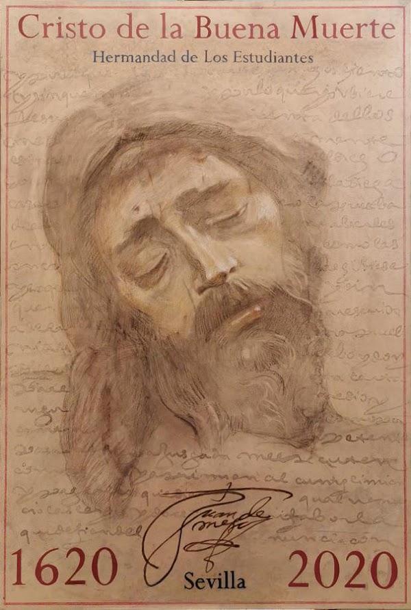 Cartel del Cuarto Centenario de la hechura del Cristo de la Buena Muerte de Sevilla