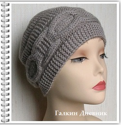 jenskaya-shapka-spicami | шапка-спицями | шапка-пруткамі | тоқылған-шляпалар
