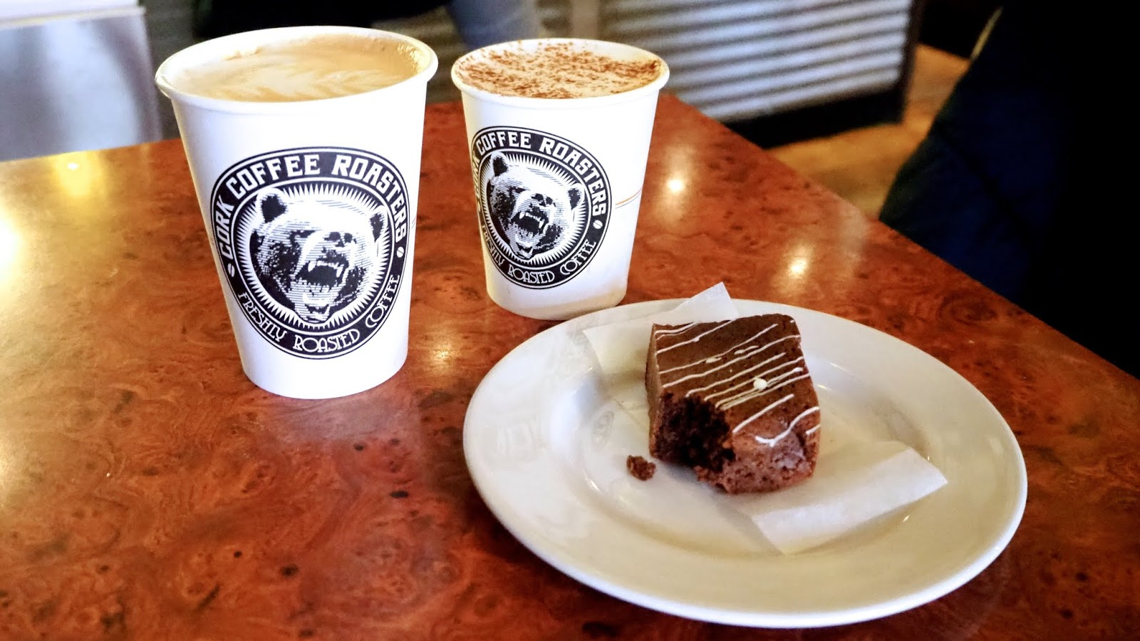 coffee and brownie
