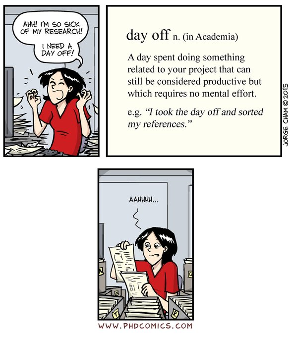 day off in academia