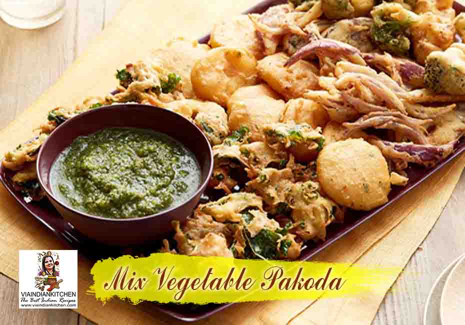viaindiankitchen - Mix Vegetable Pakoda Recipe
