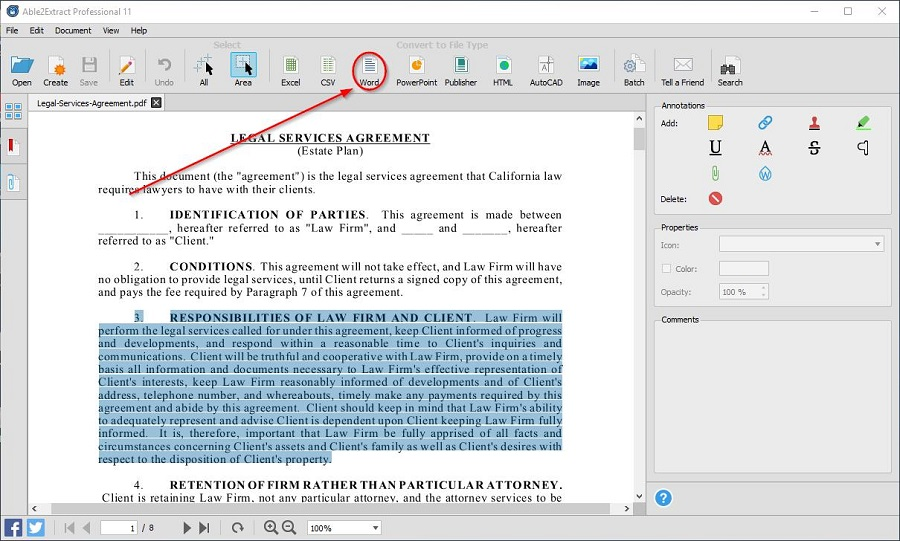 Convert PDF to Editable Word 3