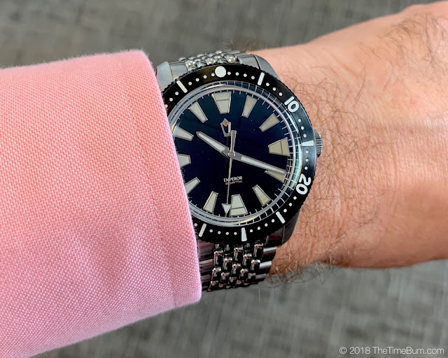 Emperor Diver 2017 WatchUseek F71 Forum Watch wrist shot