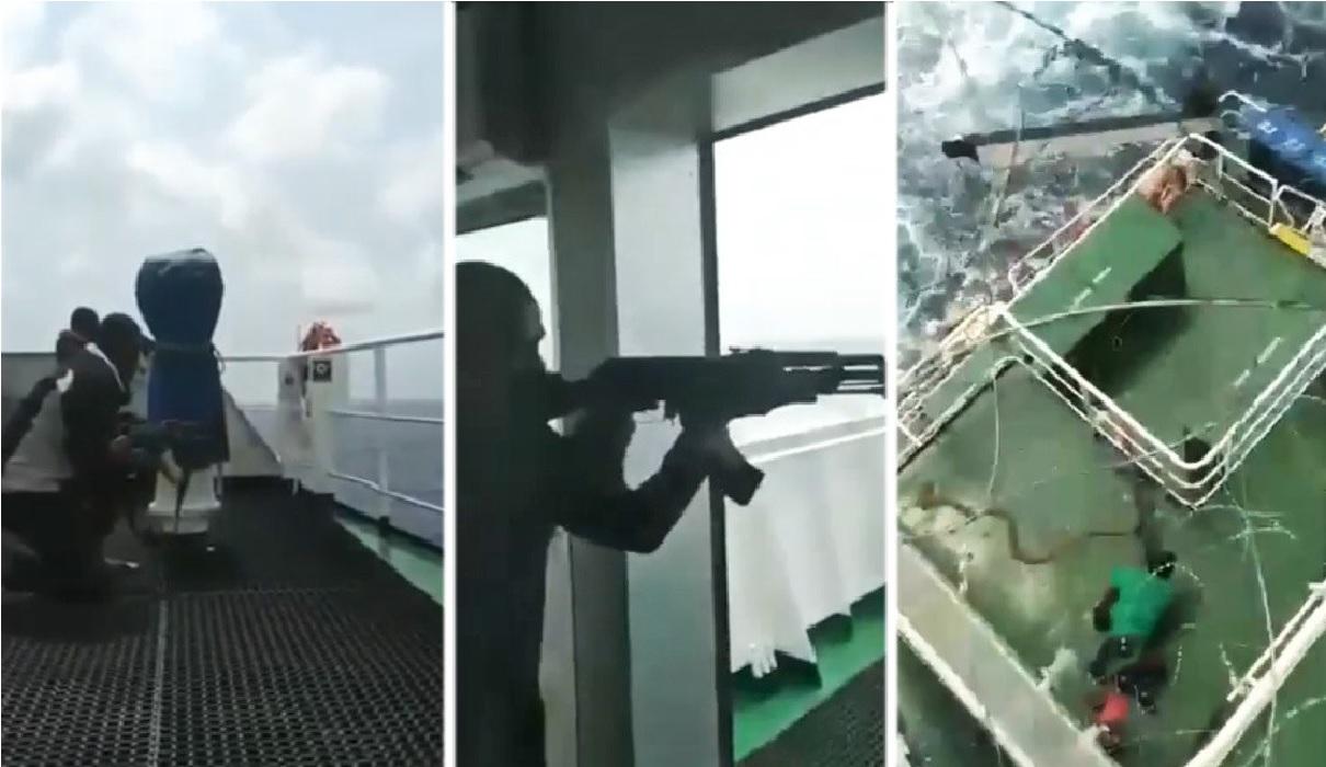 Buque de carga es atacado en Golfo de Guinea, 15 tripulantes secuestrados y uno muerto (Video)