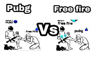pubg vs free fire, free fire, pubg, ফ্রি ফায়ার, পাবজি,
