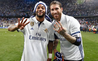 Ramos and Marcelo have now both won 22 titles with Madrid.