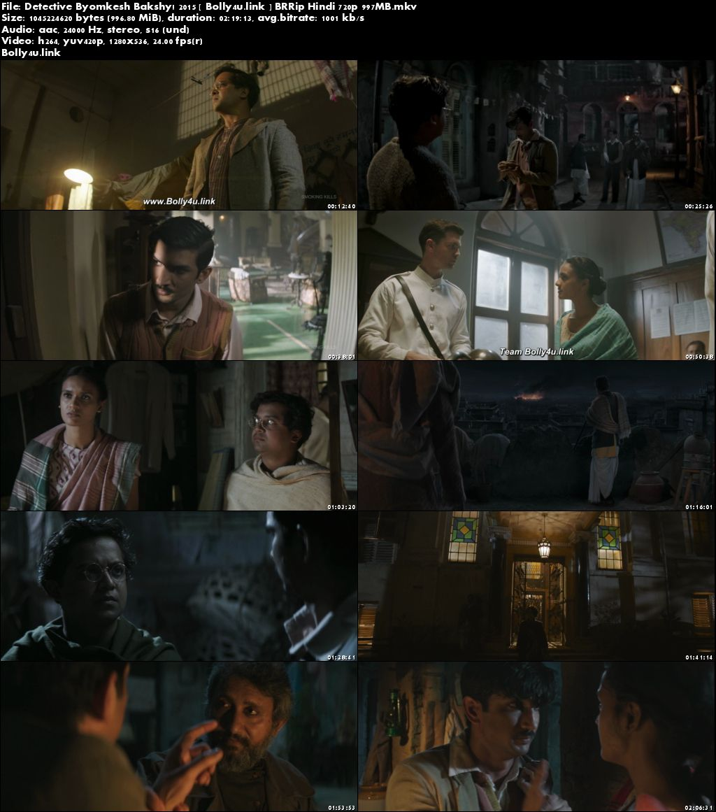 Detective Byomkesh Bakshy 2015 BluRay 950Mb Hindi 720p Download