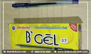 pulpen standard b'gel | pupen nyaman dengan hasil yang tajam