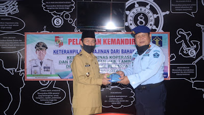 Pelatihan Kemandirian Kerajinan Untuk Warga Binaan Resmi di Buka Plt.Bupati Lampung Utara