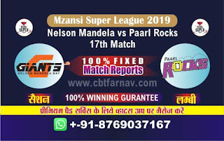 Mzansi Super League PR vs NMBG 17th Match Prediction Today Reports