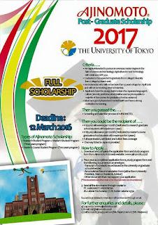 Beasiswa Full Scholarship Ajinomoto University of Tokyo