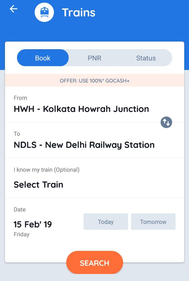 Train Ticket Offer