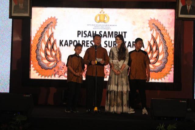 Ajun Komisaris Besar Polisi Andy Rifai.,S.I.K., M.H. Kapolresta Baru saat Berikan Sambutan