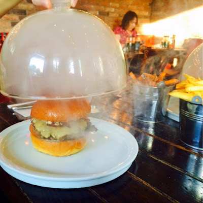 Smokey burger at Meat and Shake