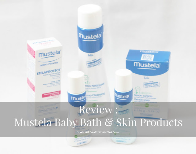 blog review of mustela baby bath and skin products.