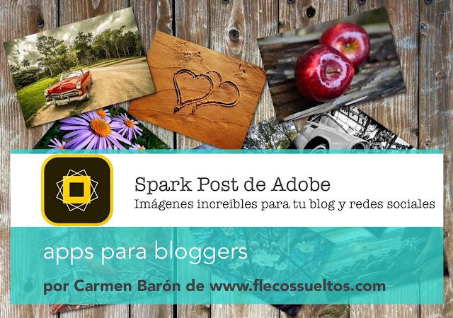 Spark Post de Adobe apps para bloggers