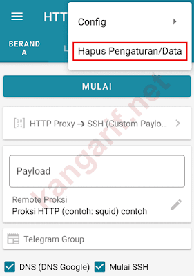 hapus pengaturan data http injector
