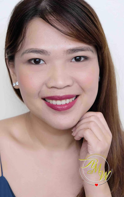 a photo of L'Oreal Infallible Pro Matte Liquid Lip Gloss review in shade Forbidden Kiss.