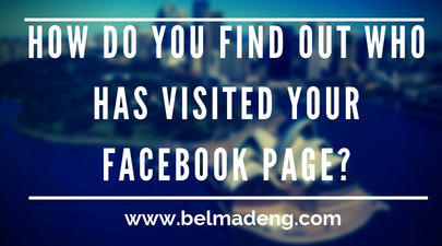 How do you find out who has visited your Facebook page?