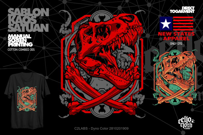 Sablon Kaos Distro Artwork Satuan Rubber or DTG Kornit