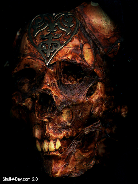Faux Decayed Skull