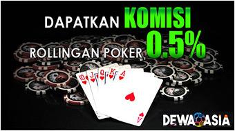 Komisi Poker 0.5%