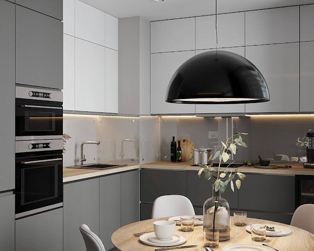 Thiết kế và thi công hoàn thiện nội thất căn hộ chung cư Sunshine Diamond River Quận 7 - Phòng bếp và bàn ăn