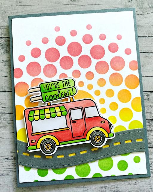 Sunny Studio Stamps: Cruisin' Cuisine Customer Card by Lisa McBride
