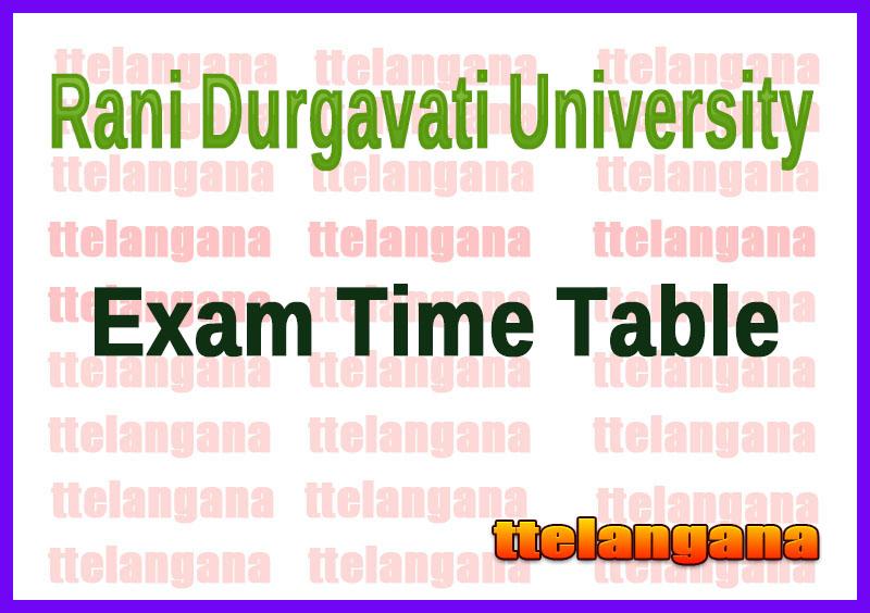 Rani Durgavati University  Exam Time Table
