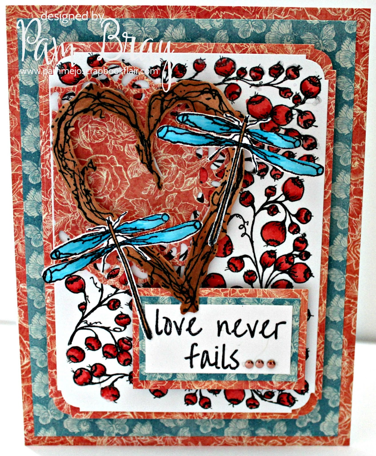 Love Never Fails with Blank Page Muse Stamps