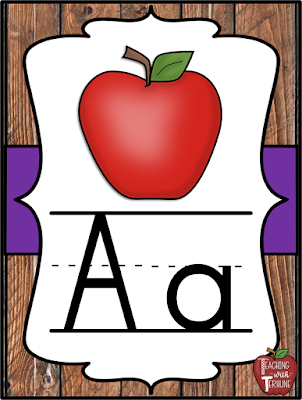 Wooden Shiplap Alphabet Poster