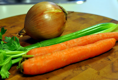 Onion, Celery, and Carrots for the Braised Short Ribs Base - Photo by Taste As You Go