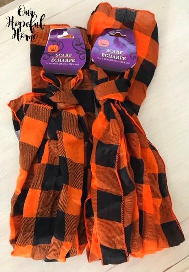 orange black buffalo check scarf