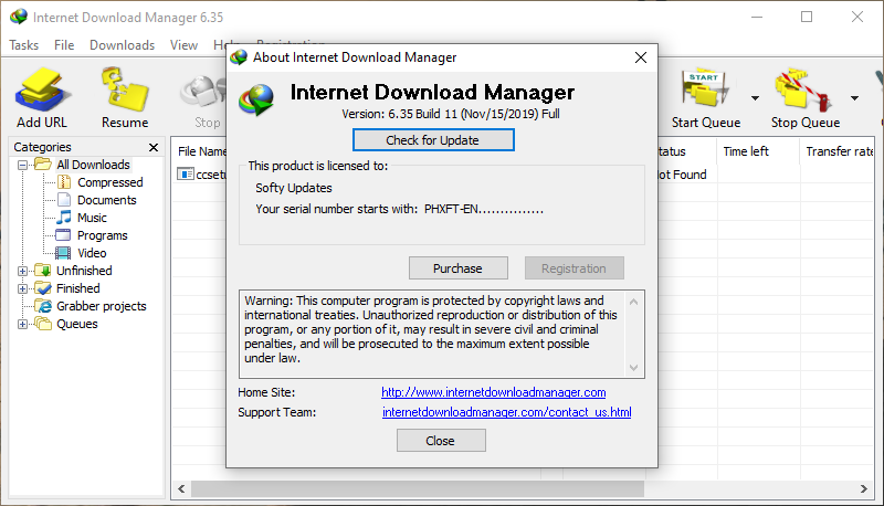 Internet Download Manager 6.35 Build 11