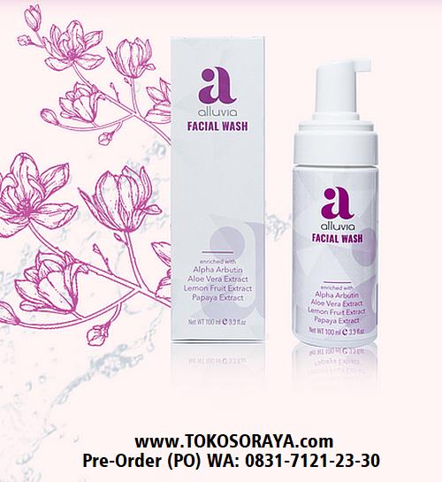 gambar produk kecantikan alluvia facial wash