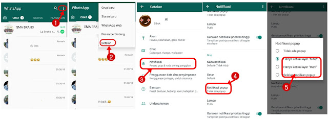 hilangkan status online di whatsapp