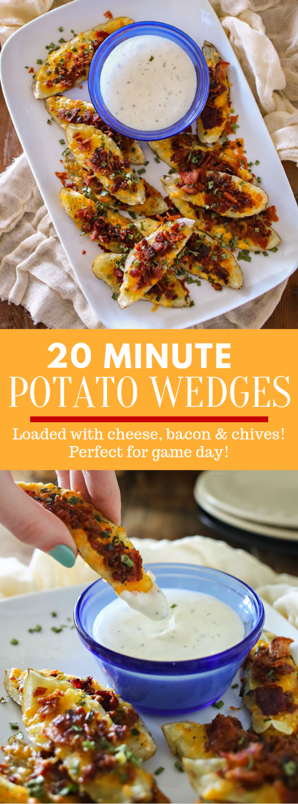 20 Minute Potato Wedges #gameday #snack
