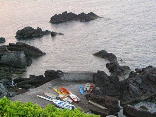 Paisagem rochosa em Ginostra, Sicilia