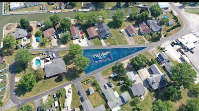 20200714 151149 - Air Drive veteran paints his total yard with big Trump 2020 banner